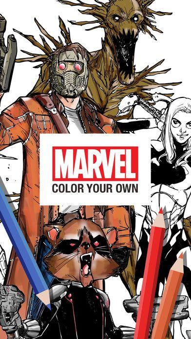 以 Marvel 漫畫英雄為題材的填色遊戲。