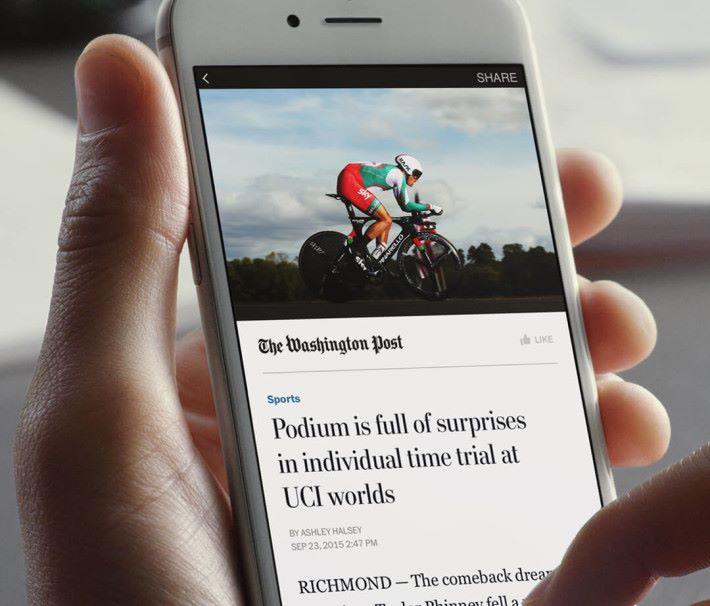 Facebook Instant Article 亦是媒體向網上傳播者就範的例子。