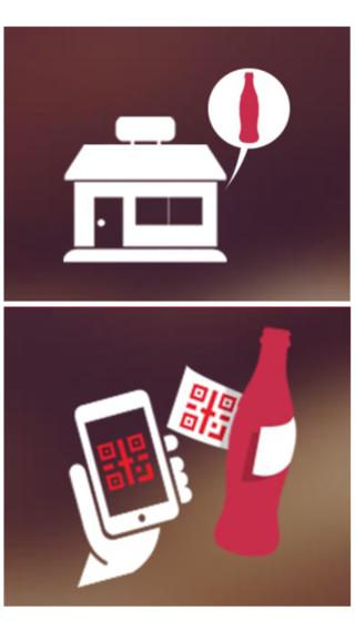 1. 到便利店購買夏日版500毫升可口可樂或零系可口可樂( 7 月 12 日推出),撕開樽身招紙,掃描背面的 QR Code;