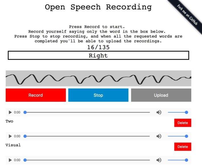 大家可以到 Open Speech Recording 網站去提供語音資料