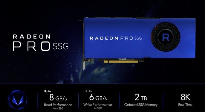 AMD 在發佈會展示 Radeon Pro SSG 的規格。