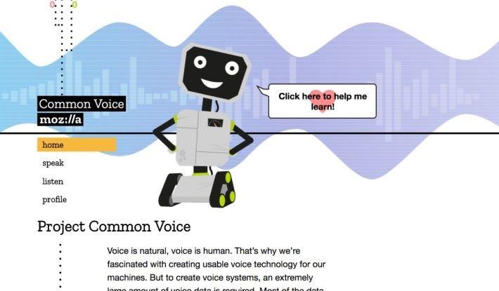 Mozilla 也在收集語音資料,目標是收集 10,000 小時分量的資料。