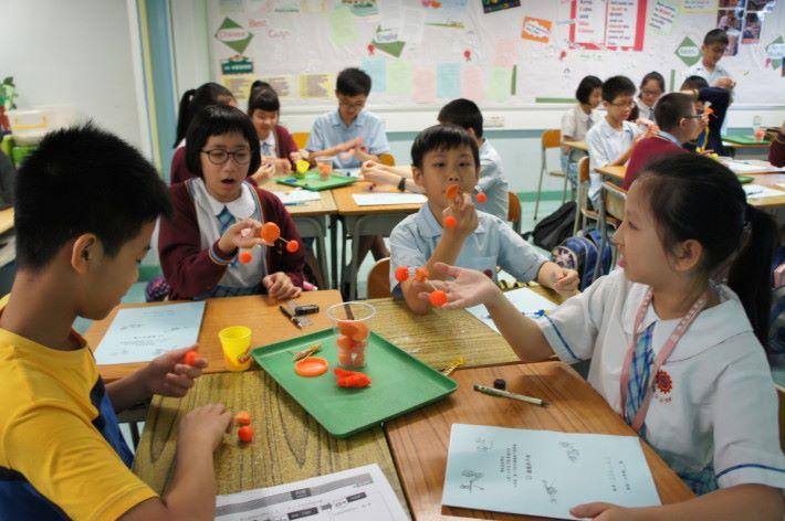 較簡單的實驗,老師會安排小組進行。