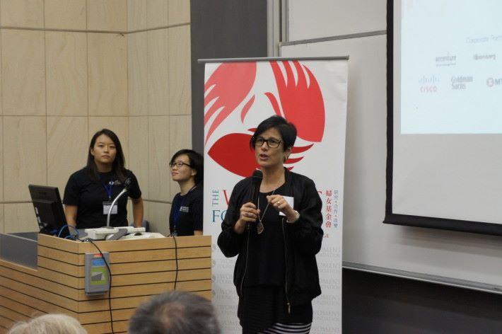 Google總經理(香港區銷售及營運)Leonie Valentine指出更多女性學習科技能培養解難能力,從而協助改善社會。