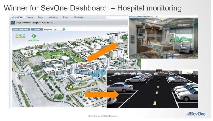 當日同學就設計在醫院病房內加入各項感應器。