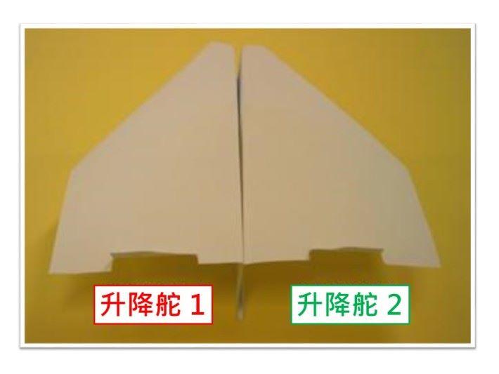 「Y」形的機身設計能提升紙飛機的穩定性,有助減低機身左右擺動。