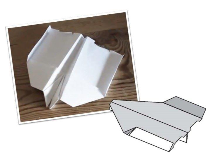 摺痕是紙飛機的主要骨幹,摺得愈實更受力有助減少亂流穿過機身。
