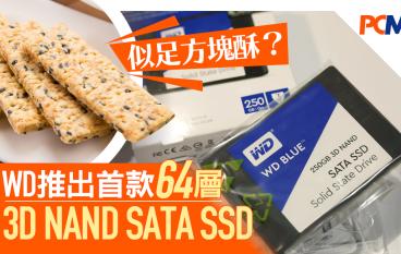 猶如方塊酥? WD 推出首款 64 層 3D NAND SATA SSD