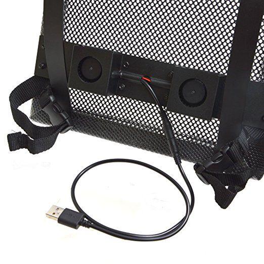 利用流動充電池推動風扇散熱。