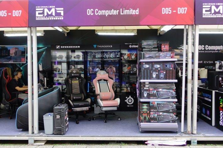 較小型的攤位也為大家提供不同電競產品選擇