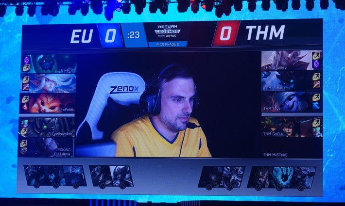 第一場的 Ban and Pick ,歐洲選手 Yellowpete 再次使用他的愛將鳥爾加特上場。