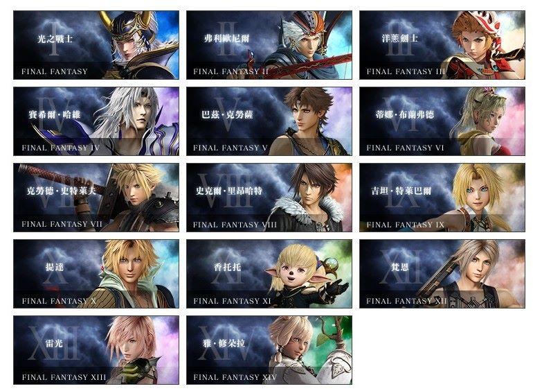 玩家可以在 Beta 中使用的人物,《 FF XV 》的人物可能要等下次才會追加。