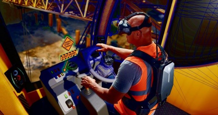 Z VR backpack 主要用於企業培訓。