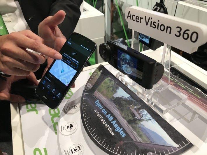 Vision 360,是少數支援 360 拍攝行車記錄器