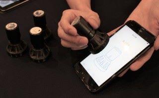 智能印章採用 Animae互動技術,正為奧海城商場作市場推廣。