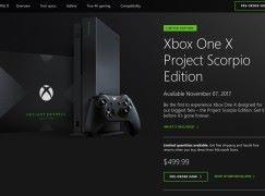 Xbox One X Project Scorpio 版本美國搶先預訂