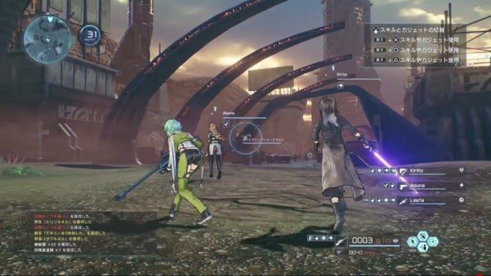 從試玩片段中已看到亞絲娜和莉法都會拿起槍枝登場