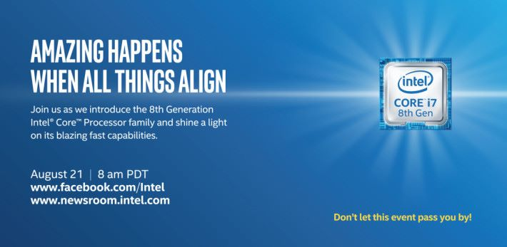 Intel 會在 8 月 21 日揭曉答案。