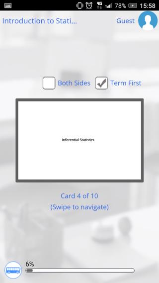 以學習卡的形式,介紹不同的統計學術語。