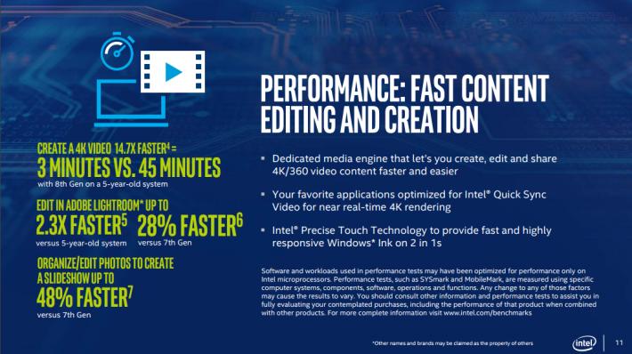 在媒體製作方面亦大幅改善效能。