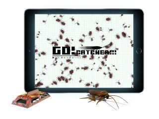 GO!CATCHER!!! 用曱甴做主題,玩家拿著曱甴屋在平板電腦上移動,捕捉曱甴。