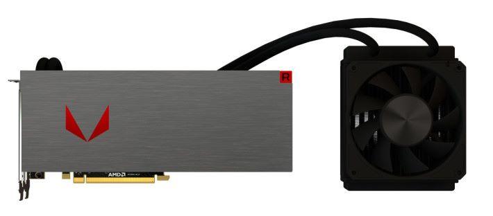 AMD Vega 64 顯示卡公版水冷款。