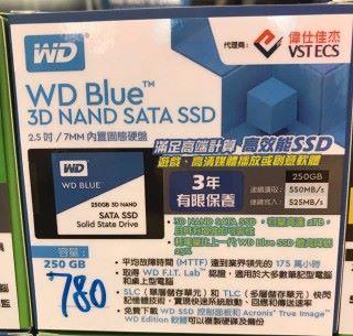 WD Blue 3D NAND SATA SSD 的 2.5 吋 Form Factor 現已在會展電腦節發售。