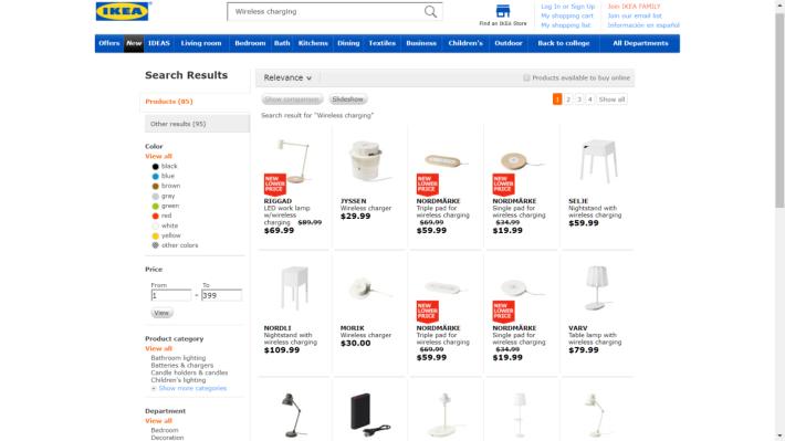 IKEA 推出多款支援無線充電功能的傢俱。