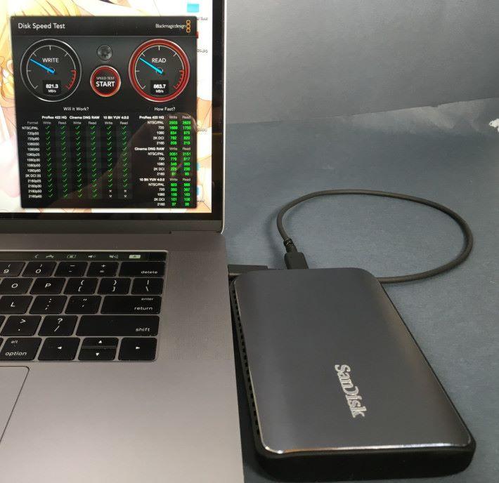SanDisk Extreme Pro 900 藉著 Raid 0 方式並聯 SSD 來突破 SATA 的傳輸速度限制。