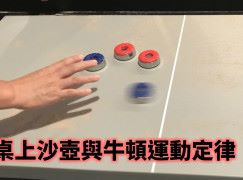 桌上沙壺與牛頓運動定律