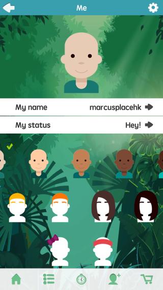 App讓用家自行設計主角的外 貌。