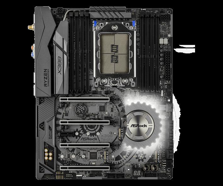 本刊亦同時收到 ASRock 推出的 X399 新板樣本,價錢比 ASUS 便宜一截,同樣提供四條 PCI-E 3.0 x16 實體插槽及四卡 SLI/CrossFire 支援,兼具三組 M.2 及一組 U.2 介面,當然就未有 10Gbps 或802.11ad Wi-Fi 之類功能。