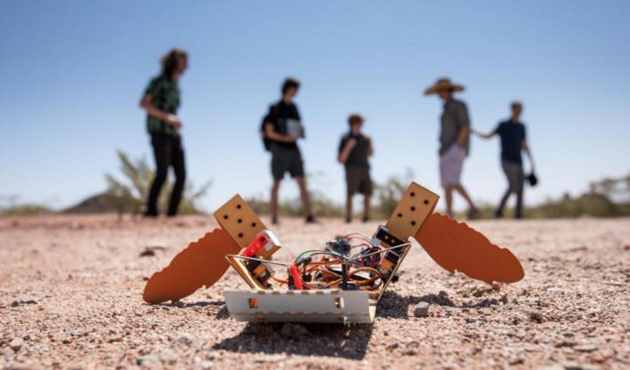 結合生物學的機械海龜設計,能輕易橫越沙漠代替人類進行深測。