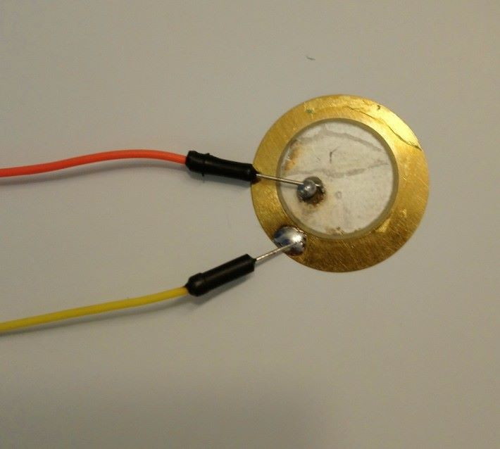 壓電陶瓷蜂鳴片樣本接線方式如圖。
