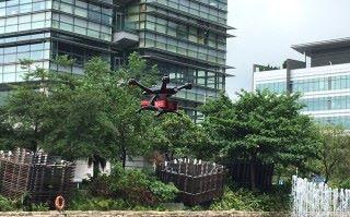 美心食品與科技園園區公司合作,測試無人機送餐的可行性。