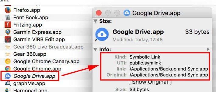從 Mac 版 Google Drive App 的資料可以看到, Google Drive App 變成了一條捷徑,讓用戶可以順利過渡去 Backup and Sync,而雲端儲存就依然繼續。