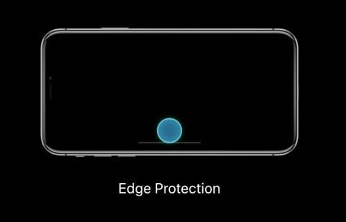 iPhone X 沒有 Home 鍵,所以用戶在 Home Indicator 位置向上推一下,就會離開程式。如果手機 App 會用到向上推的手勢,開放者可啟用 Edge Protection「鎖定」,用戶向上推一下會露出 Home Indicator,再推第二下才會離開程式。