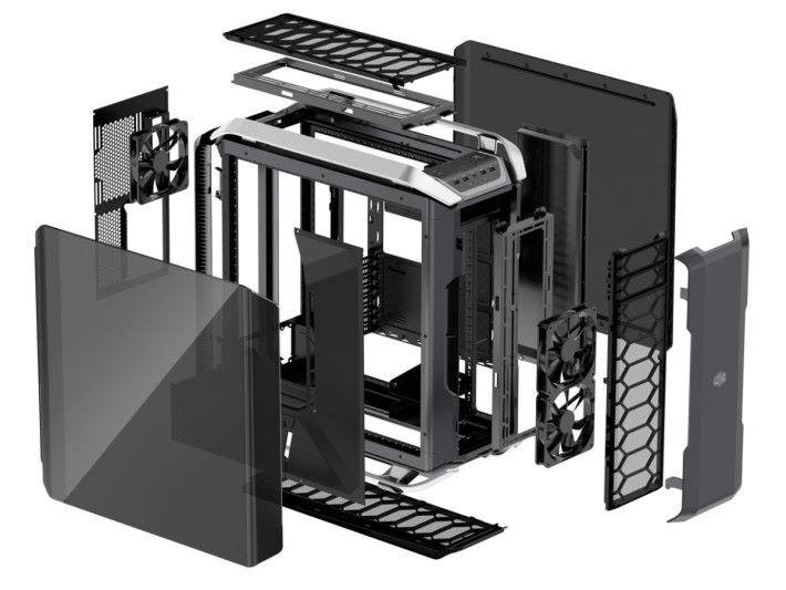 不過機箱每一個部份都是模組式,反向佈局的裝拆過程未必簡單。