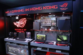 現場展出多款電競產品如 Keyboard、Notebook 等。