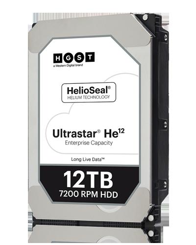HGST 12TB ULTRASTAR HE12 Hard Disk。