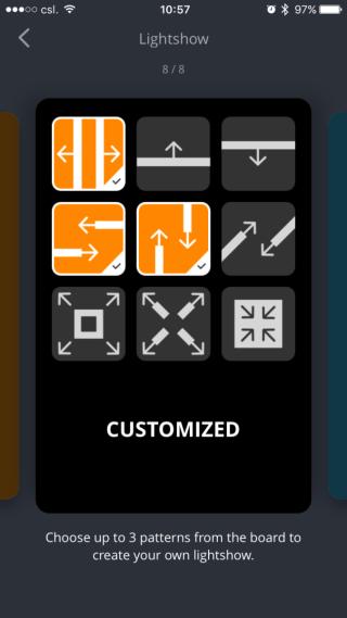 透過 app 自訂燈光效果