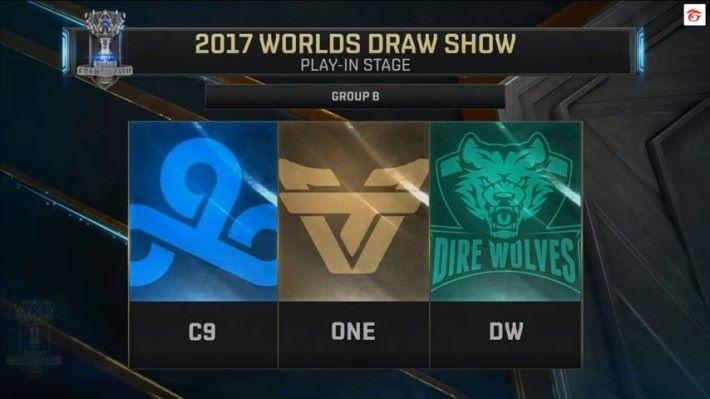 B 組由北美 Cloud9, 巴西 Team oNe Esports,大洋洲 Dire Wolves 組成。
