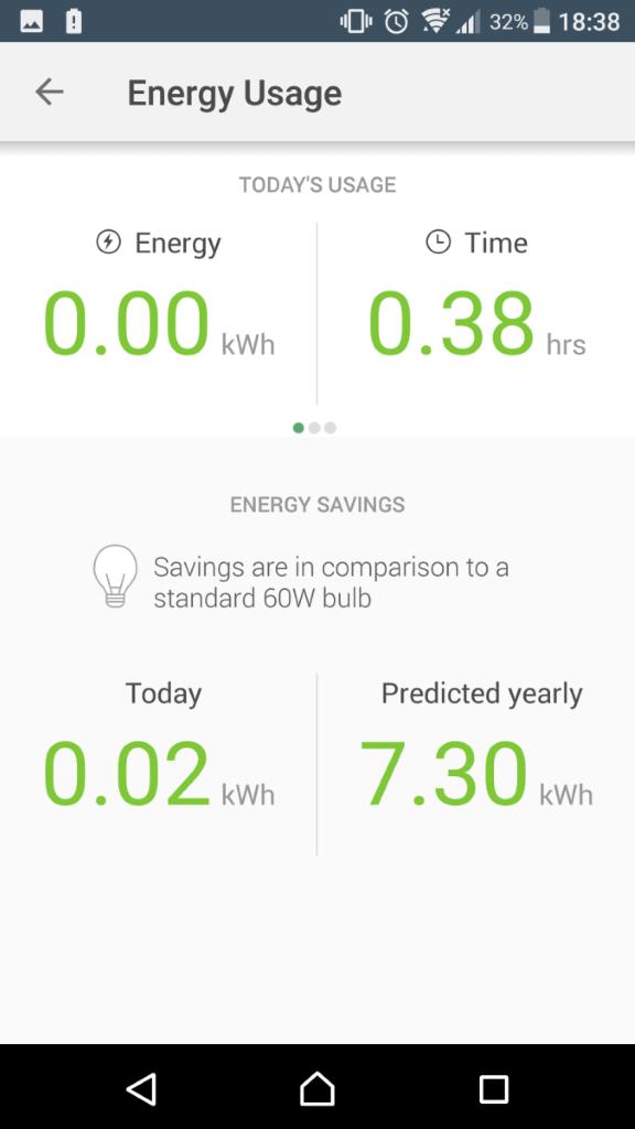 手機 App 會顯示用電量。
