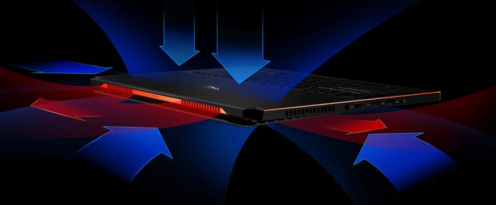 ASUS ROG GX501 散熱系統設計。