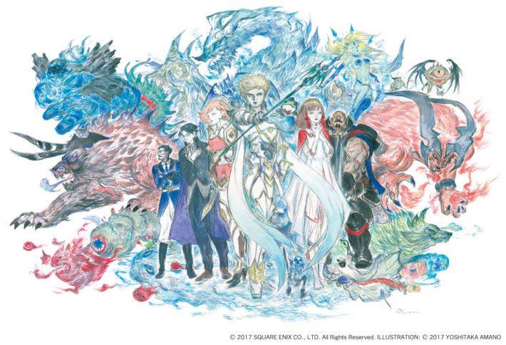 繼續有天野喜孝大師為遊戲繪製概念畫作。