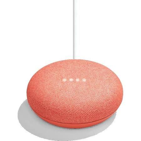 這種顏色的 Google home mini 有種活躍的感覺。