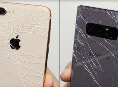 [殘酷測試] Note 8 比 iPhone 8 更襟跌
