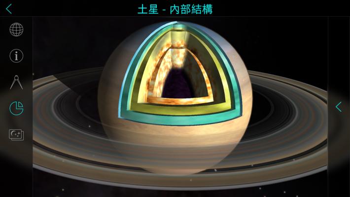 用家能觀看星球的內部結構。