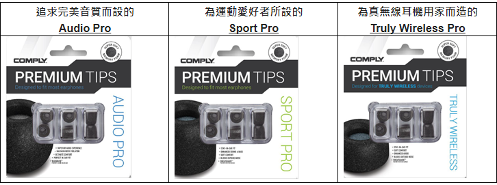 Comply 全新系列 SMARTCORE 記憶耳綿