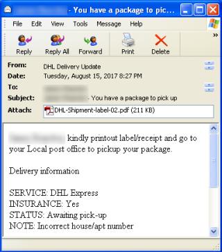 《 FormBook 》主要透過電郵附件的方式來入侵,攻擊電郵會偽裝成交易文件來寄給企業。